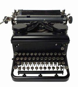 Máquina escrever foto